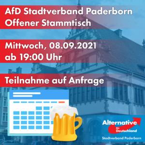 Stammtisch September 2021 AfD Stadtverband PB