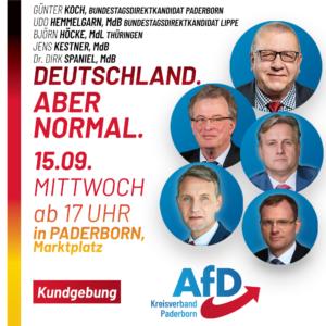 AfD Kundgebung Paderborn Wahlkampf mit Björn Höcke