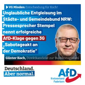 3G-Klage – Entgleisung im Städte- und Gemeindebund NRW